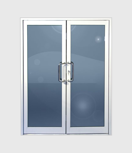 Double Commercial Full View Glass Door