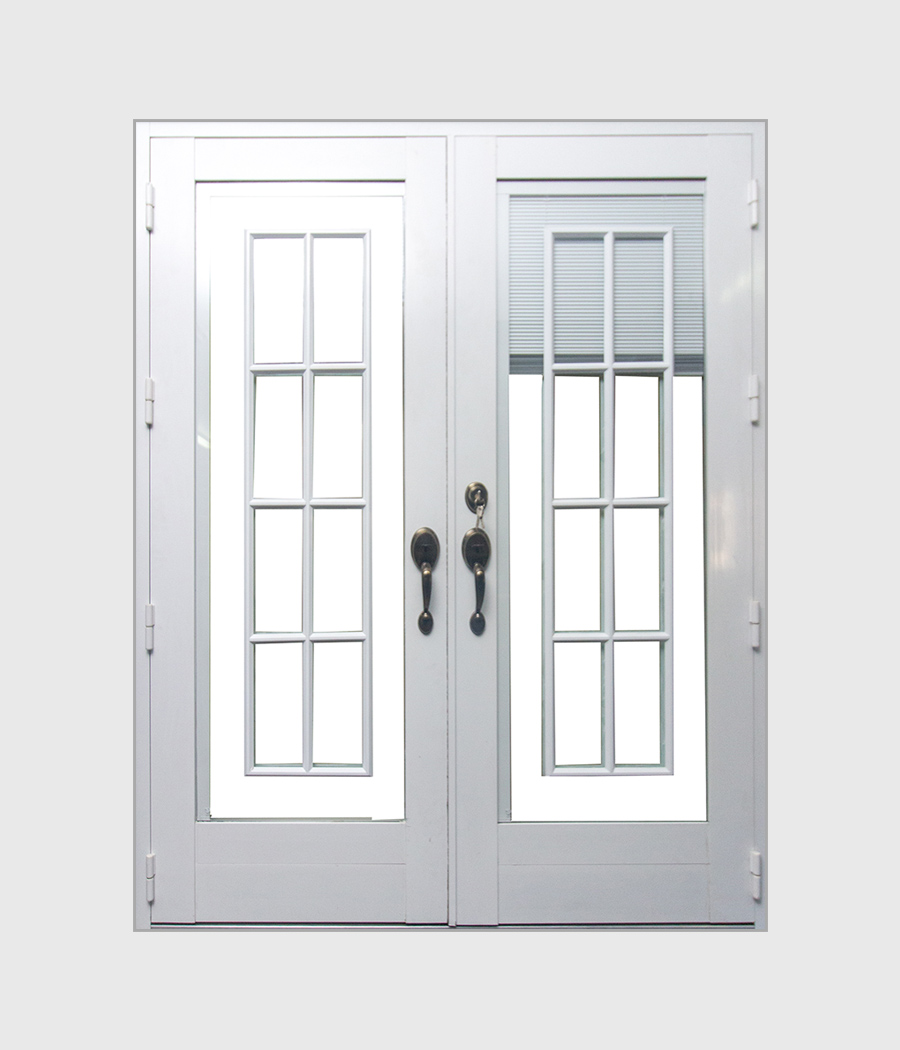 Full Adjustable Blind Glass Door