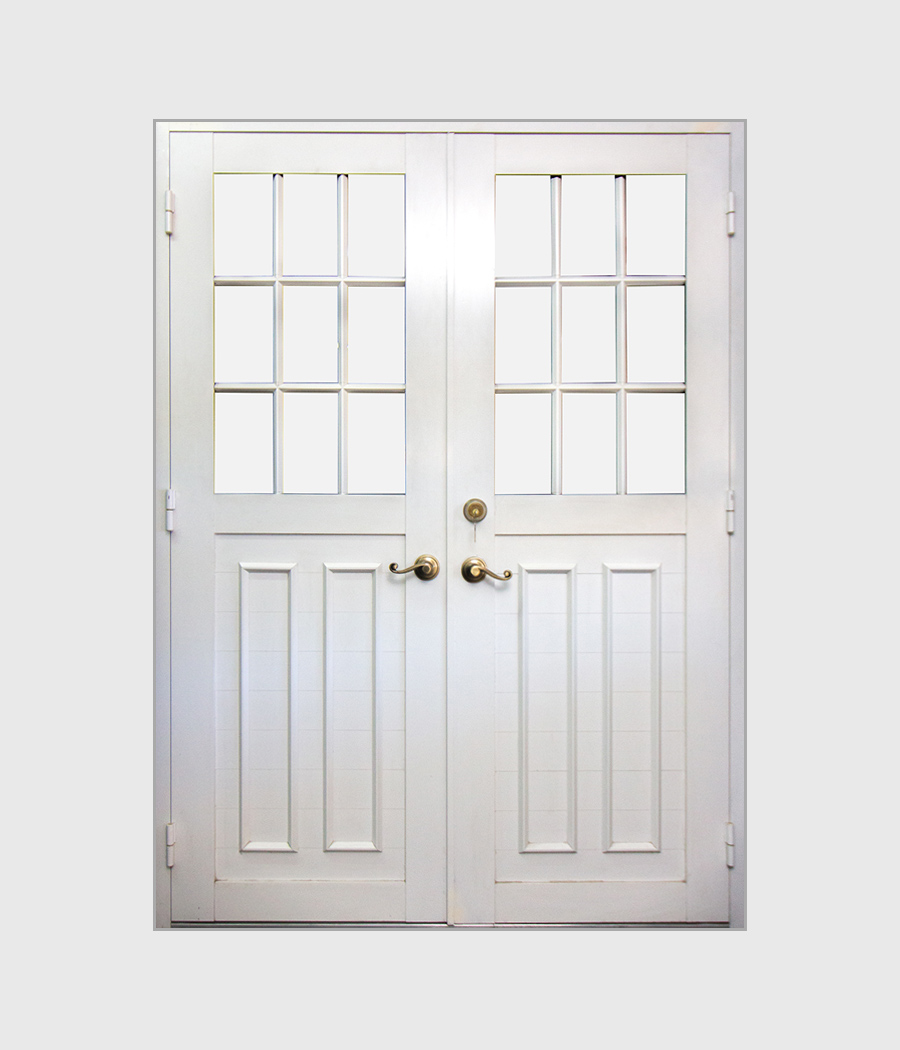 18 Lite Double Half View Door