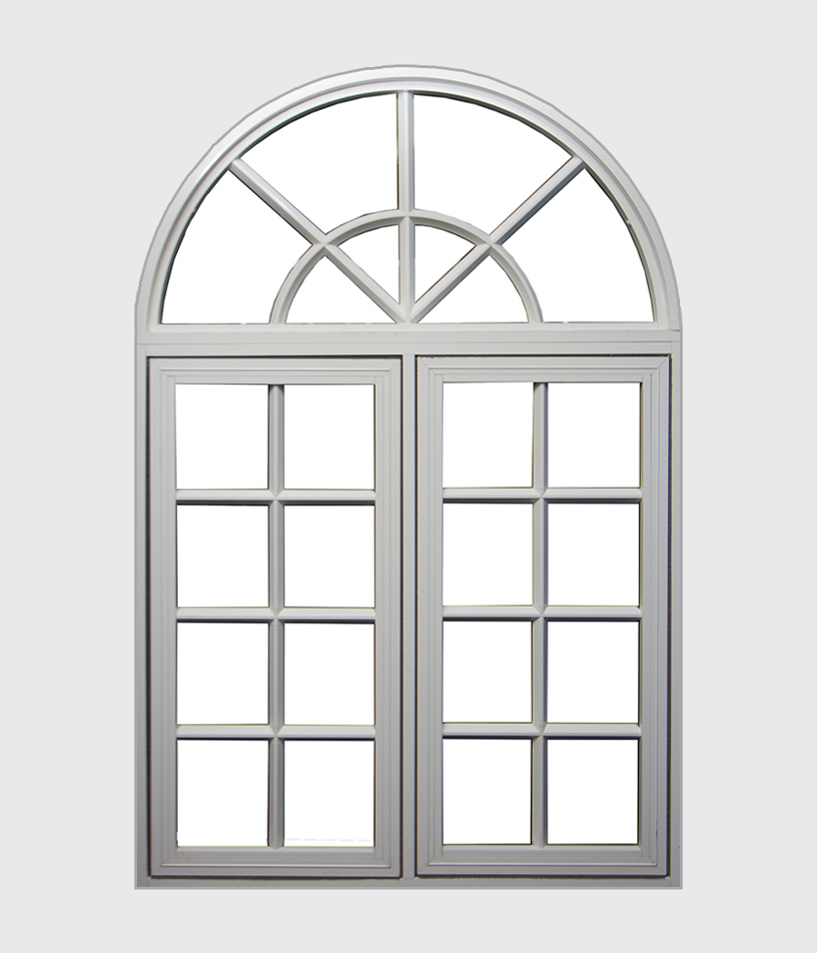 Aluminium Casement Window with Arch