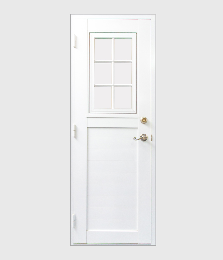 Solid Core Door with Casement Window