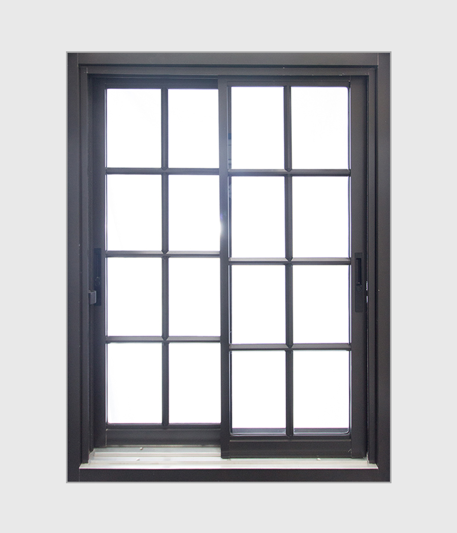 Aluminium Heavy Duty Colonial Double Sliding Window
